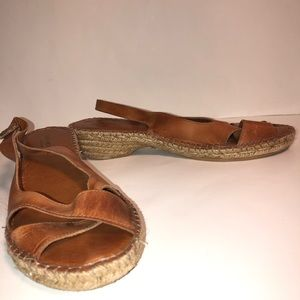 Eric Michael leather woven sandals
